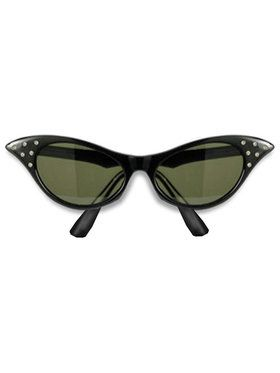 Adult 1950's Black Frame Sunglasses
