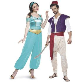 Adult Aladdin Princess Jasmine Couple Costume Kit