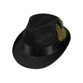 Adult Felt Fedora Hat With Feather
