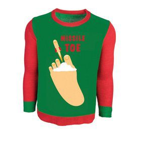 Adult Missle Toe Ugly Sweater