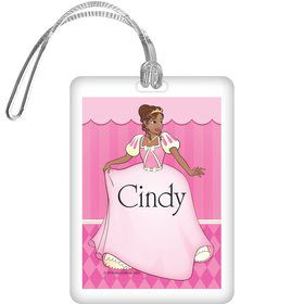 African American Princess Personalized Bag Tag (each)
