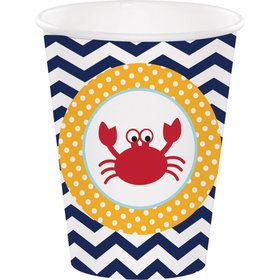 Ahoy Matey 9 oz Cups (8 Count)