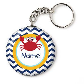 "Ahoy Matey Personalized 2.25"" Key Chain (Each)"