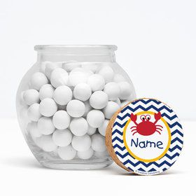 """Ahoy Matey Personalized 3"""" Glass Sphere Jars (Set of 12)"""