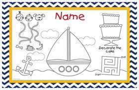 Ahoy Matey Personalized Activity Mat (Each)