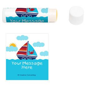 Ahoy Matey Personalized Lip Balm (12 Pack)