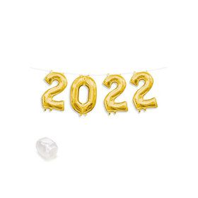 """2020"" Gold Air-Fillable 13"" Letter Balloon Banner Kit"