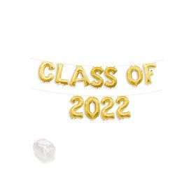 "Air-Fillable 13"" Gold Letter Balloon Kit ""CLASS OF 2019"""