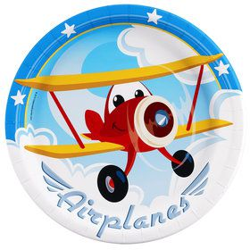 Airplane Adventure Dinner Plates