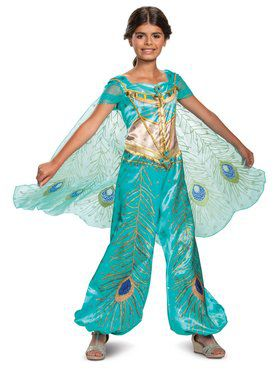 Aladdin Princess Jasmine Teal Deluxe Toddler Costume