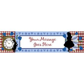Alice in Wonderland Personalized Banner (Each)