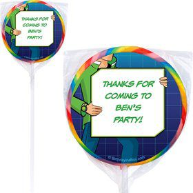 Alien Hero Personalized Lollipop (pack of 12)