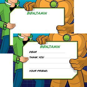 Alien Hero Personalized Thank You Note