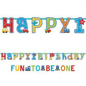 All Aboard 1st Birthday Letter Banner