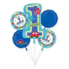 All Aboard 1st Birthday Balloon Bouquet (Each)