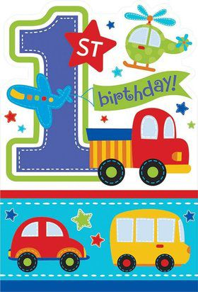 All Aboard 1st Birthday Invitations (8 Pack)