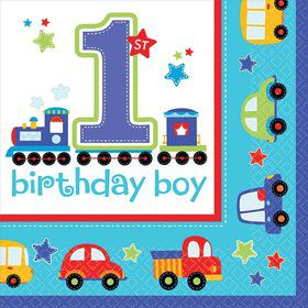 All Aboard 1st Birthday Luncheon Napkins (36 Pack)