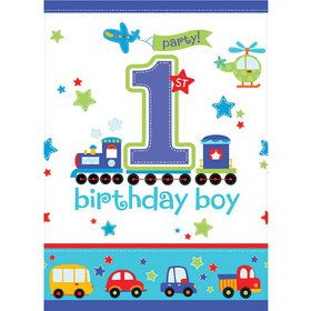 All Aboard 1st Birthday Plastic Table Cover (Each)