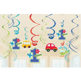 All Aboard 1st Birthday Swirl Decorations (12)