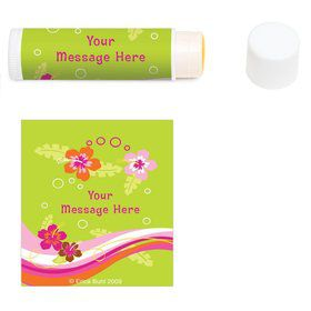 Aloha Luau Personalized Lip Balm (12 Pack)