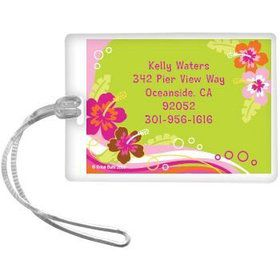 Aloha Luau Personalized Luggage Tag (each)