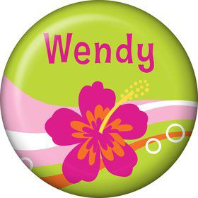 Aloha Luau Personalized Mini Button (Each)