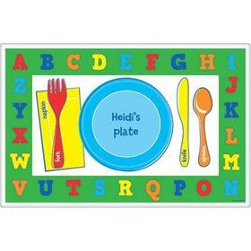 Alphabet Personalized Placemat (each)