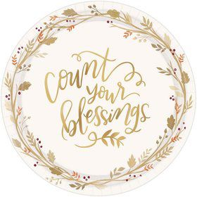 Always Be Thankful Dessert Plates