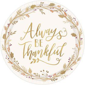 Always Be Thankful Lunch Plates