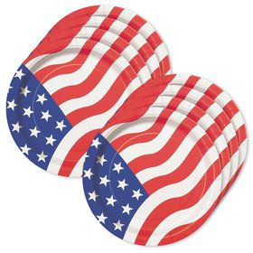 "American Flag 9"" Luncheon Plates (8 Pack)"