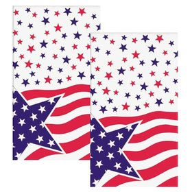 American Flag Plastic Table Cover (Each)