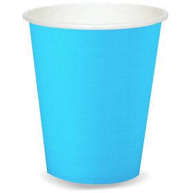 Aqua 9 oz. Paper Cups (8 Count)