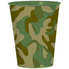 Army Camo 16oz Favor Cup (Each)