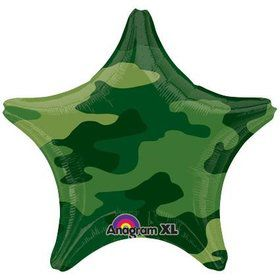 "Army Camo Star 19"" Balloon (Each)"