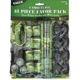 Army Camouflage Mega Favor Pack (48 Pieces)