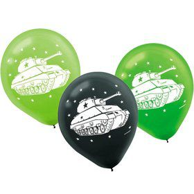 "Army Tank Camo 12"" Latex Balloons (6 Pack)"
