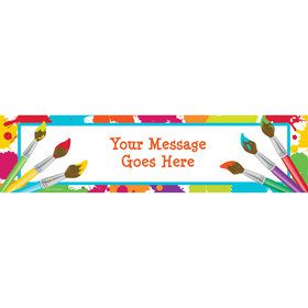 Art Party Personalized Banner (Each)