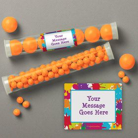 Art Party Personalized Candy Tubes (12 Count)