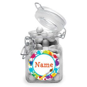 Art Party Personalized Glass Apothecary Jars (12 Count)