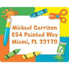 Art Personalized Address Labels (sheet of 15)