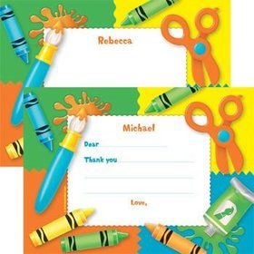 Art Personalized Thank You Notes (each)