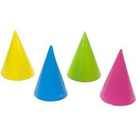 Assorted Bright Color Party Hats (8-pack)