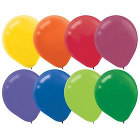 Assorted Colors Latex Balloons (72 Count)