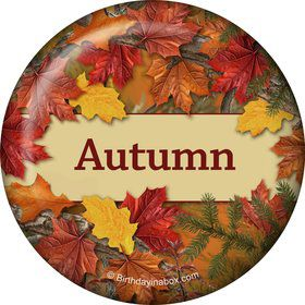 Autumn Leaves Personalized Button (Each)