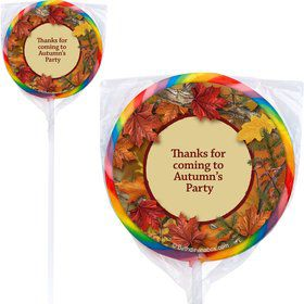 Autumn Leaves Personalized Lollipops (12 Pack)