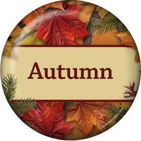 Autumn Leaves Personalized Mini Magnet (Each)