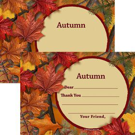Autumn Leaves Personalized Thank You (Each)