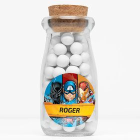 "Avengers Personalized 4"" Glass Milk Jars (12 Count)"