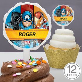 Avengers Personalized Cupcake Picks (12 Count)