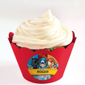Avengers Personalized Cupcake Wrappers (Set of 24)